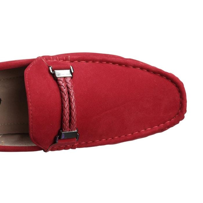 Mocassin à détail métallique rouge Uomo