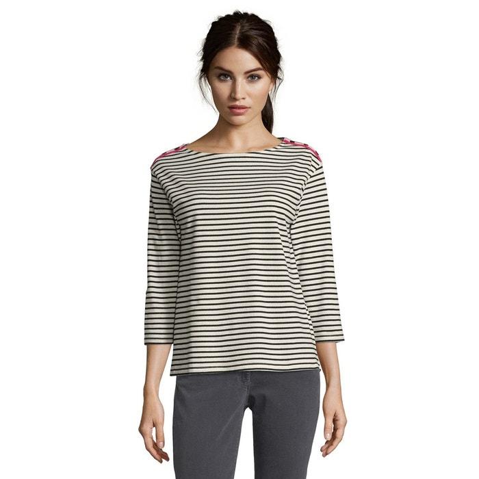 Sweat-shirt à rayures horizontales noir blanc gris Betty Barclay   La  Redoute 66e121b201ee