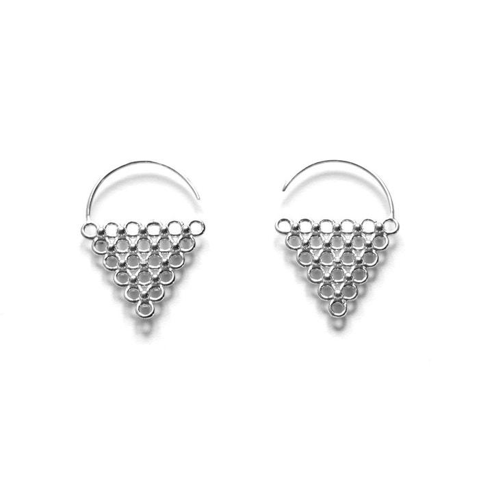 Boucles d'oreilles en argent triangle jali argent Agnes De Verneuil   La Redoute Prix Pas Cher Pas Cher 53osblfQ