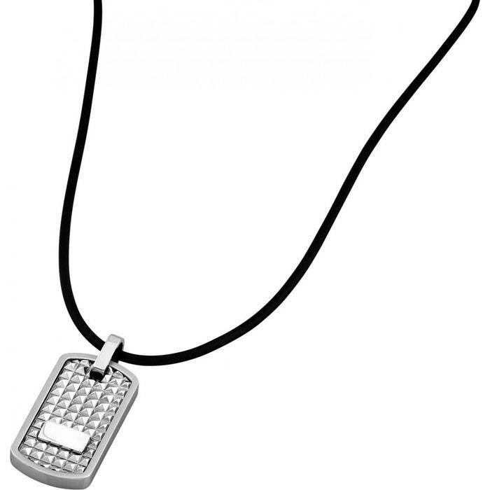 collier cordon cuir pour homme et son pendentif en acier lotus style ls1514 1 1 acier lotus la