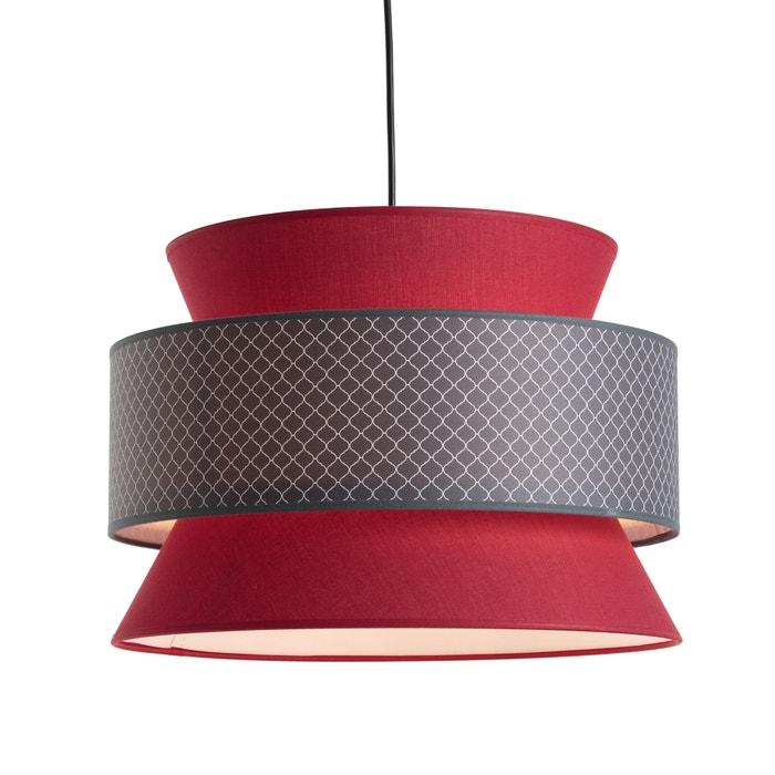 suspension forme 3 abat jours dolkie la redoute interieurs rouge la redoute. Black Bedroom Furniture Sets. Home Design Ideas