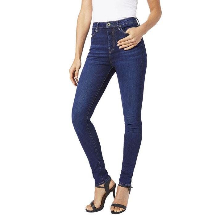 d34bee99add87 Jean skinny taille haute dion indigo Pepe Jeans   La Redoute