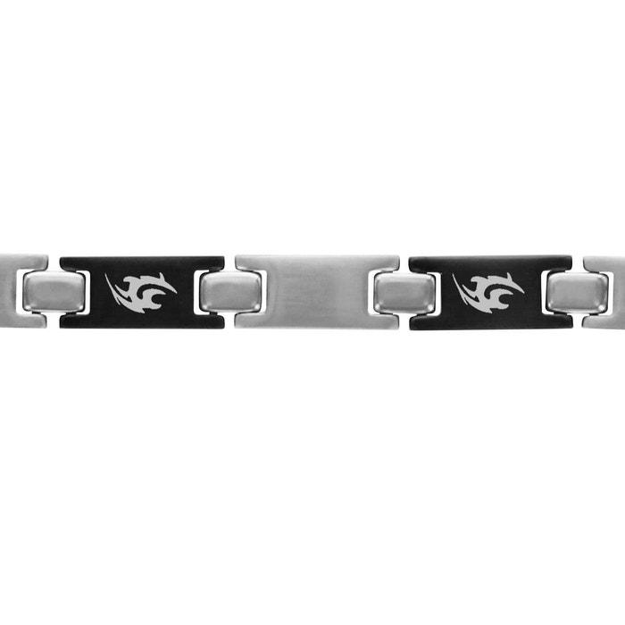 Bracelet 21 cm longueur réglable tribal gris acier inoxydable couleur unique So Chic Bijoux   La Redoute Acheter Pas Cher Avec Une Carte De Crédit Gt4eMF5rpY