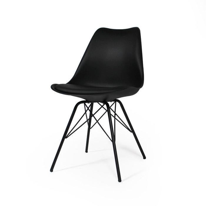 chaise scandinave noire coussin pitement tour eiffel px made in meubles - Chaise Scandinave Noir