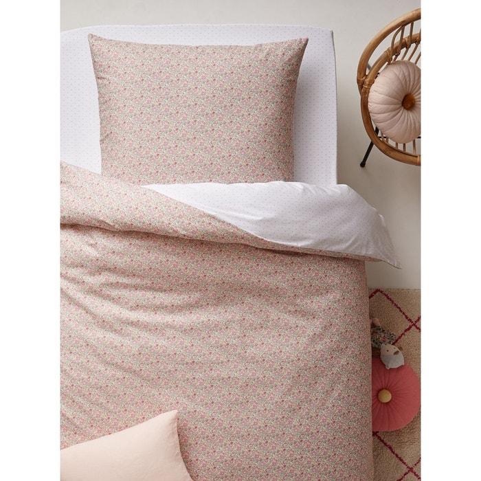 housse de couette en coton liberty betsy ann imprim rose cyrillus la redoute. Black Bedroom Furniture Sets. Home Design Ideas