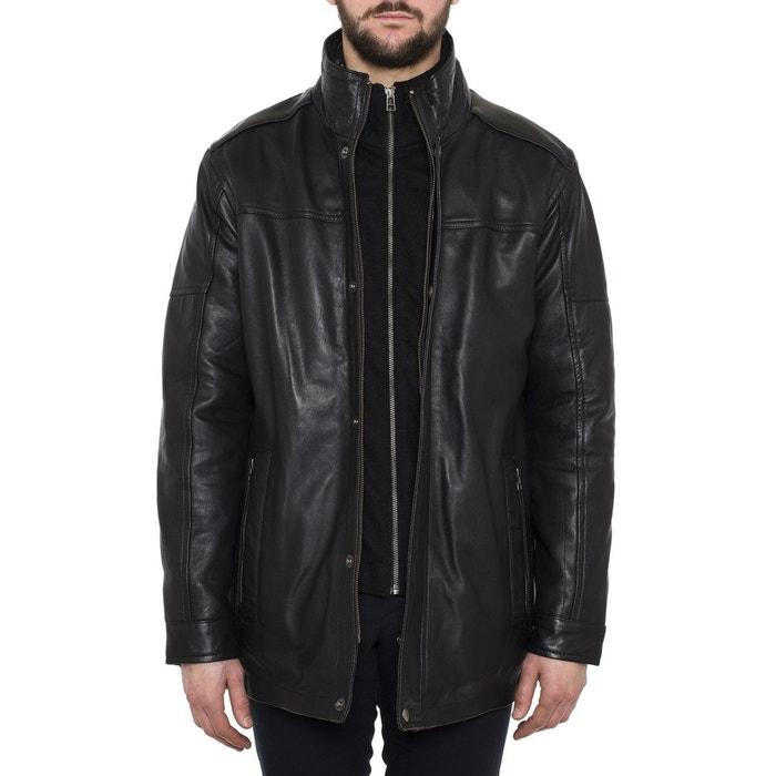 Manteau mi-long cuir d'agneau veritable  TASSA LE CUIR PARIS image 0