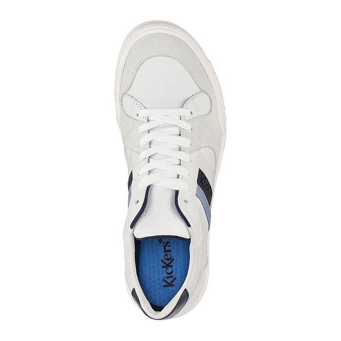 Baskets cuir jexprime blanc Kickers