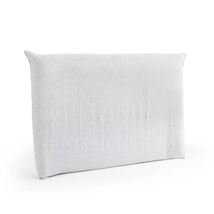 housse pour t te de lit en lin lav mereson am pm gris blanc la redoute. Black Bedroom Furniture Sets. Home Design Ideas