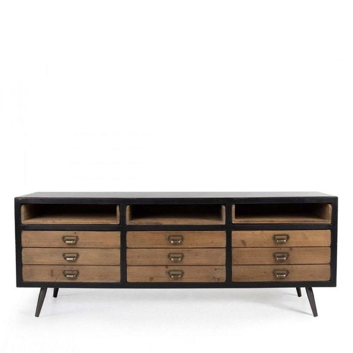 buffet industriel van ness produit interieur brut la redoute. Black Bedroom Furniture Sets. Home Design Ideas