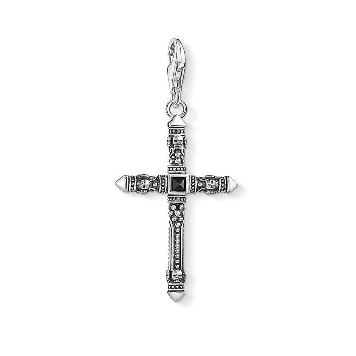 Mastercard Pendentif charm croix argenté/noir Thomas Sabo | La Redoute Ordre La Vente En Ligne 3li1U63