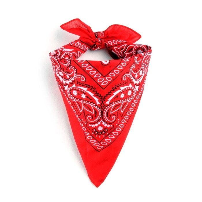 Foulard bandana rouge rouge Allee Du Foulard   La Redoute c3a9bb6d03e