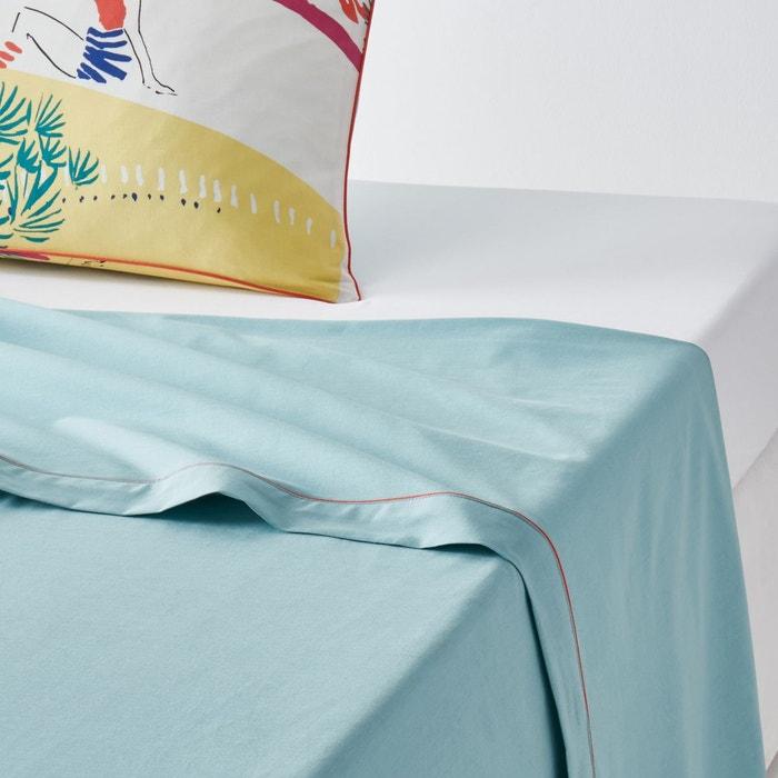 drap plat imprim paleissa imprim jaune bleu la redoute. Black Bedroom Furniture Sets. Home Design Ideas