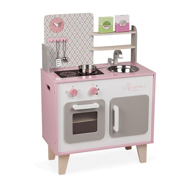 cuisine macaron bois jurj06567 rose janod la redoute. Black Bedroom Furniture Sets. Home Design Ideas
