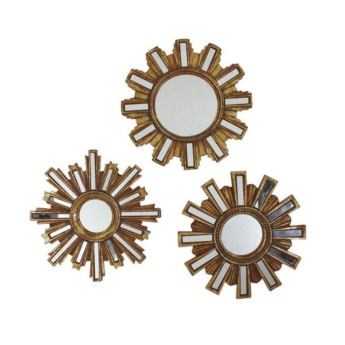 Lot de 3 miroirs soleil clat emde premium la redoute for Miroir emde deco