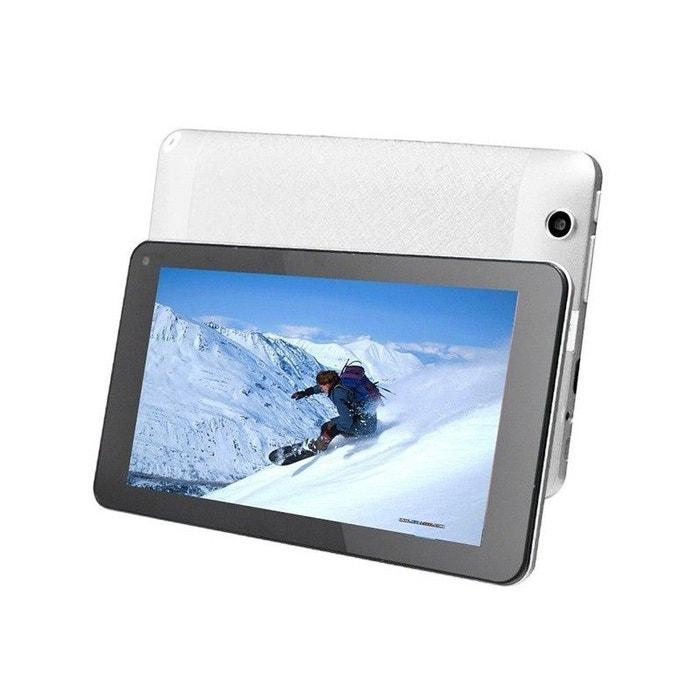 tablette tactile android 4 4 kitkat 7 pouces dual core blanc 12go blanc yonis la redoute. Black Bedroom Furniture Sets. Home Design Ideas