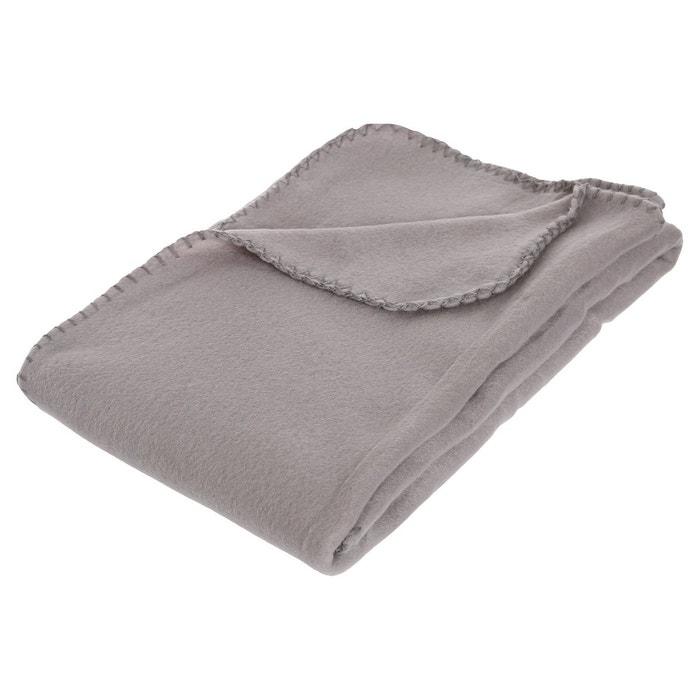 Plaid polaire 125 x 150 cm gris gris atmosphera la redoute - Plaid polaire grande taille ...