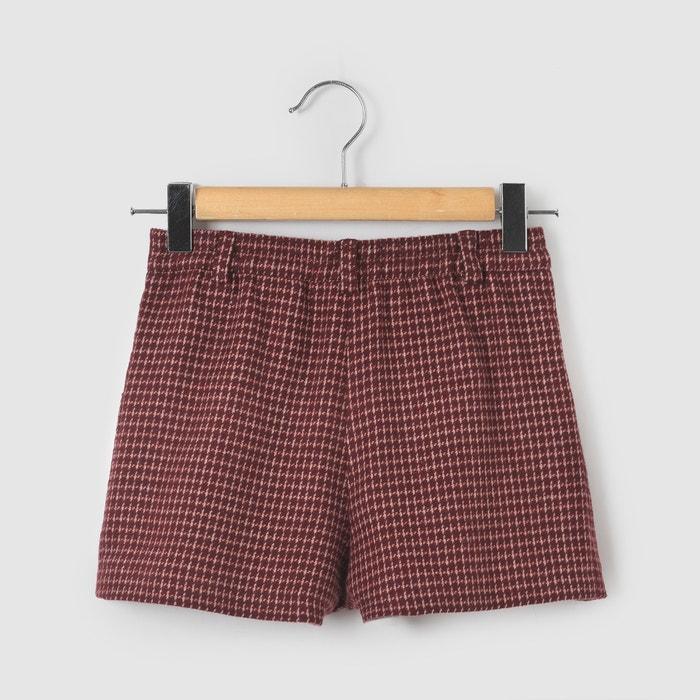 afbeelding Short met hoge taille in tweed La Redoute Collections