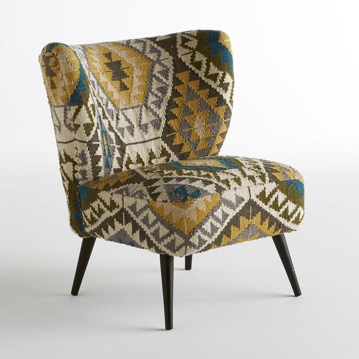 fauteuil franck motif kilim vert am pm la redoute. Black Bedroom Furniture Sets. Home Design Ideas