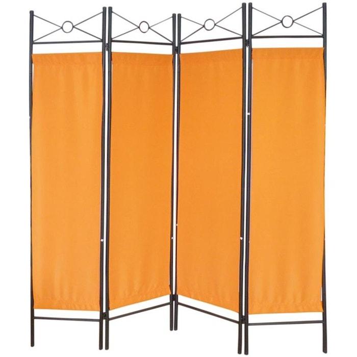 paravent 4 pans en m tal motif g om trique jardindeco la redoute. Black Bedroom Furniture Sets. Home Design Ideas