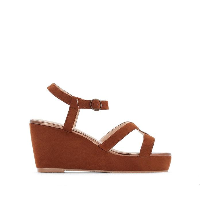 Wide Fit Metallic-Detail Sandals, Sizes 38-45  CASTALUNA PLUS SIZE image 0