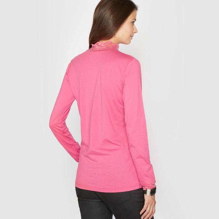 Image T-shirt collo alto in pizzo ANNE WEYBURN