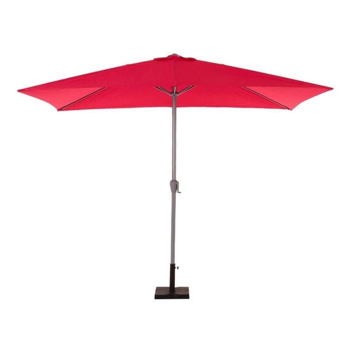 parasol rectangulaire aluminium fidji 2 x 3 m framboise couleur unique hesperide la redoute. Black Bedroom Furniture Sets. Home Design Ideas