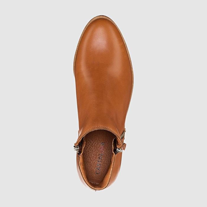Boots cuir pied large 38-45 Castaluna