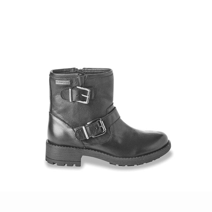 boots cuir motardes leane noir les tropeziennes par m belarbi la redoute. Black Bedroom Furniture Sets. Home Design Ideas