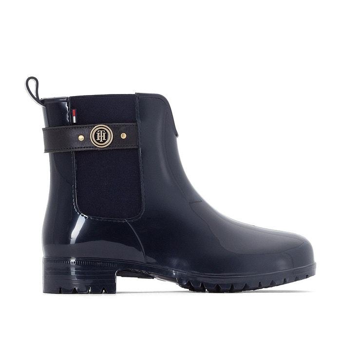boots de pluie oxley bleu marine tommy hilfiger en solde la redoute. Black Bedroom Furniture Sets. Home Design Ideas