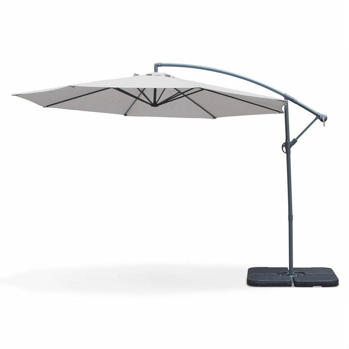 parasol d port rond hardelot 350cm excentr gris clair. Black Bedroom Furniture Sets. Home Design Ideas