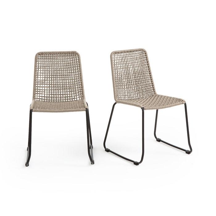 Sedie Da Esterno Design.Set Da 2 Sedie Da Giardino Saphir Nero Beige La Redoute