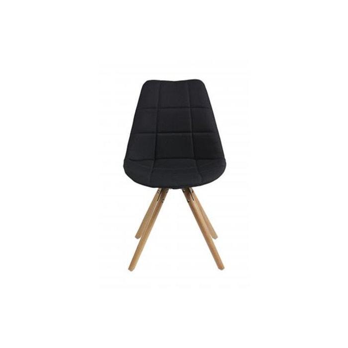 Lot de 2 chaises scandinave en tissu noir triopse marron declikdeco la redoute - Chaise scandinave la redoute ...