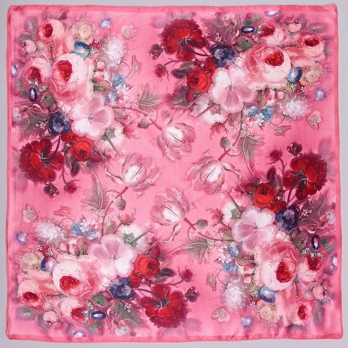 carr de soie piccolo beaflor rose rose allee du foulard la redoute. Black Bedroom Furniture Sets. Home Design Ideas
