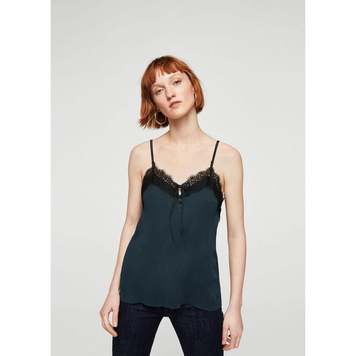 top lingerie dentelle bleu marine fonc mango la redoute. Black Bedroom Furniture Sets. Home Design Ideas