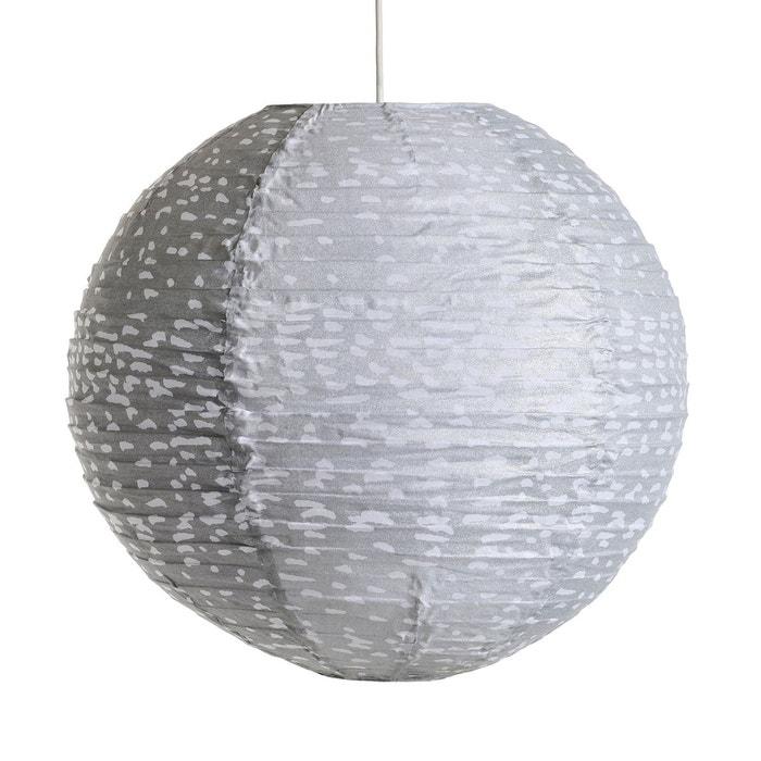 Suspension ronde sidy motif points gris blanc am pm la redoute - Luminaire suspension grande taille ...