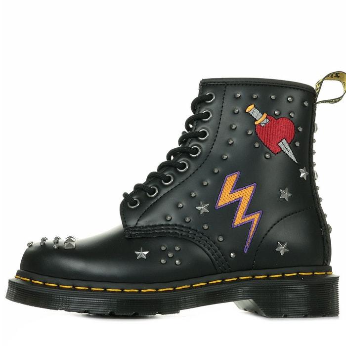 Black Rockabilly MARTENS DR Smooth 1460 Boots cIfTaq4