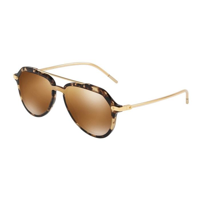 Lunettes de soleil dg4330 marron glacé Dolce Gabbana   La Redoute 029aa2d15c7a