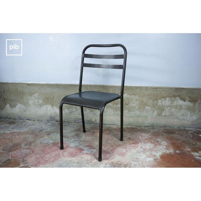 chaise m tallique empilable brune noir produit interieur. Black Bedroom Furniture Sets. Home Design Ideas
