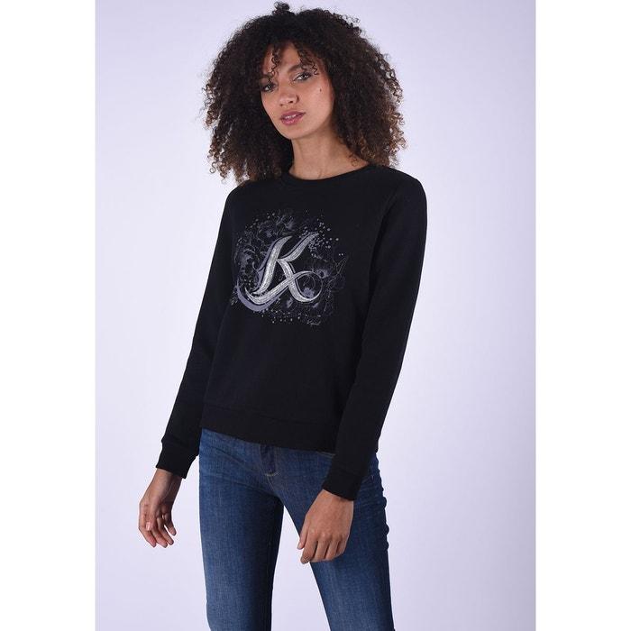 À Rond Noir Redoute Imprimé Sweat Black La Kaporal Tarax Shirt Col qRp61WZE