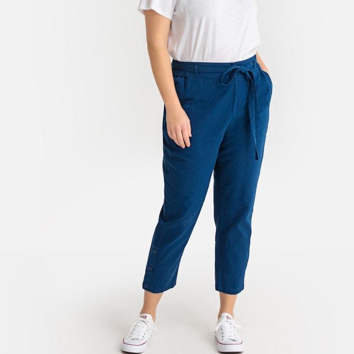 Slim broek in gemengd linnen  LA REDOUTE COLLECTIONS PLUS image 0