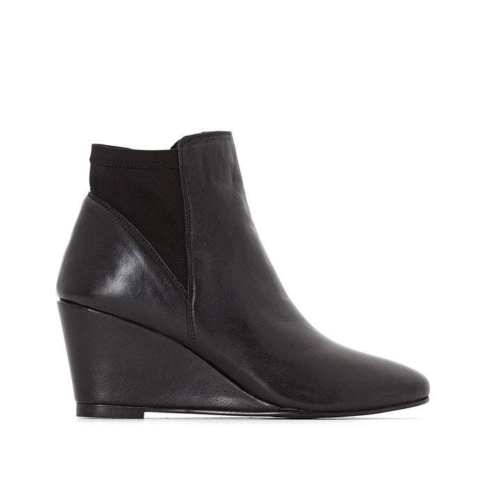 Image Boots, cuir vachette, talon compensé ANNE WEYBURN