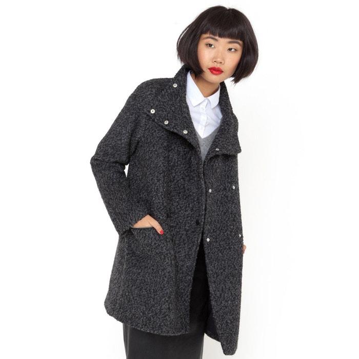 manteau laine femme grande taille pas cher les vestes la mode sont populaires partout dans. Black Bedroom Furniture Sets. Home Design Ideas