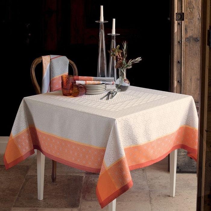 nappe geometry mango ivoire orange garnier thiebaut la redoute. Black Bedroom Furniture Sets. Home Design Ideas