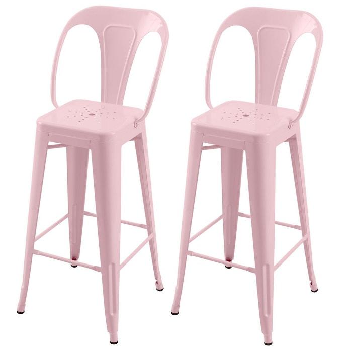 chaise de bar indus brillant 76 cm lot de 2 rendez vous deco la redoute. Black Bedroom Furniture Sets. Home Design Ideas