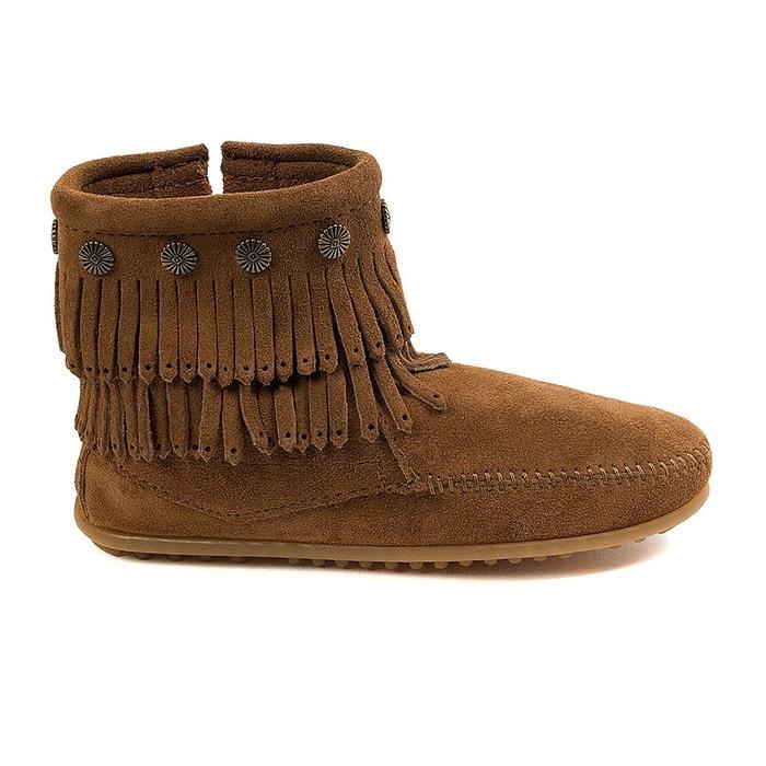 Boots en suède et franges bodouble fringe side zip Minnetonka Acheter Pas Cher Extrêmement Acheter Pas Cher De Haute Qualité Jeu Meilleur Endroit Vente Sortie Jeu Extrêmement l9c5vzl