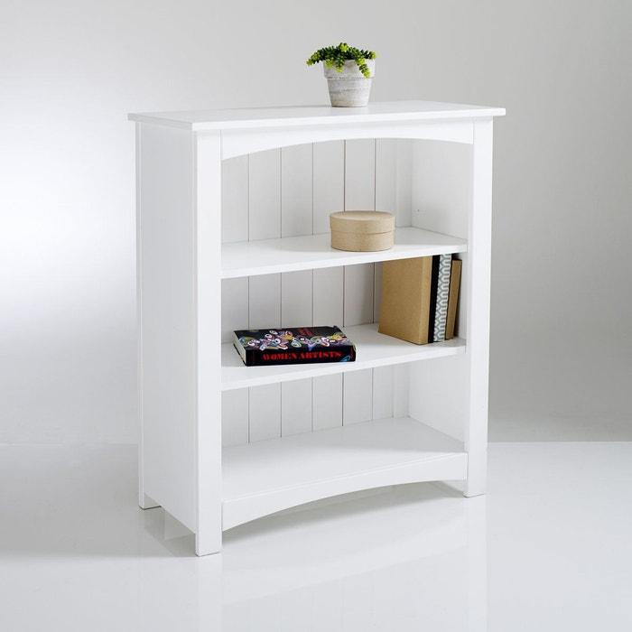 Bibus pin massif perrine blanc la redoute interieurs la - La redoute meuble bibliotheque ...
