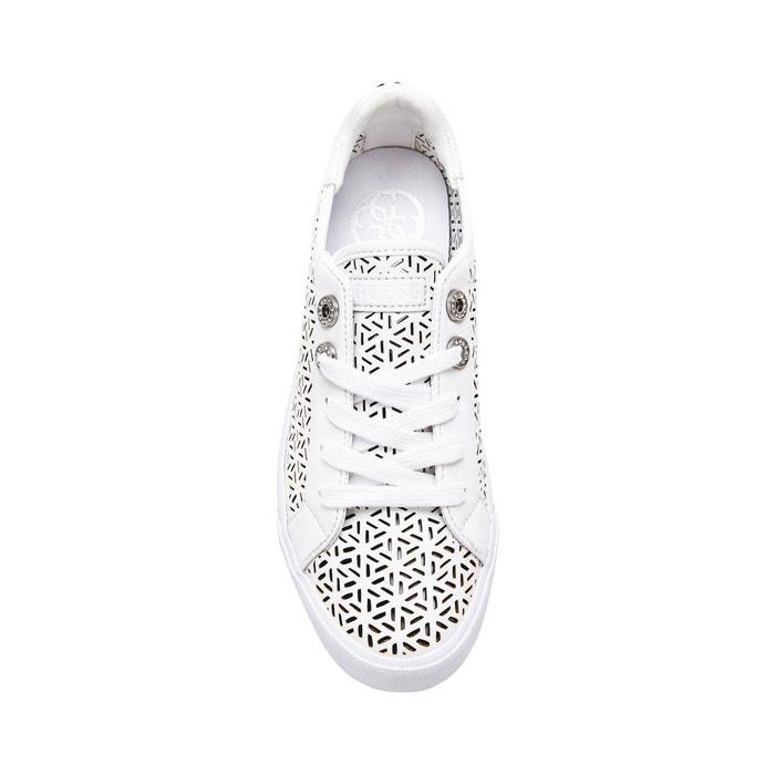 Sneaker meggie effet ajoure Guess