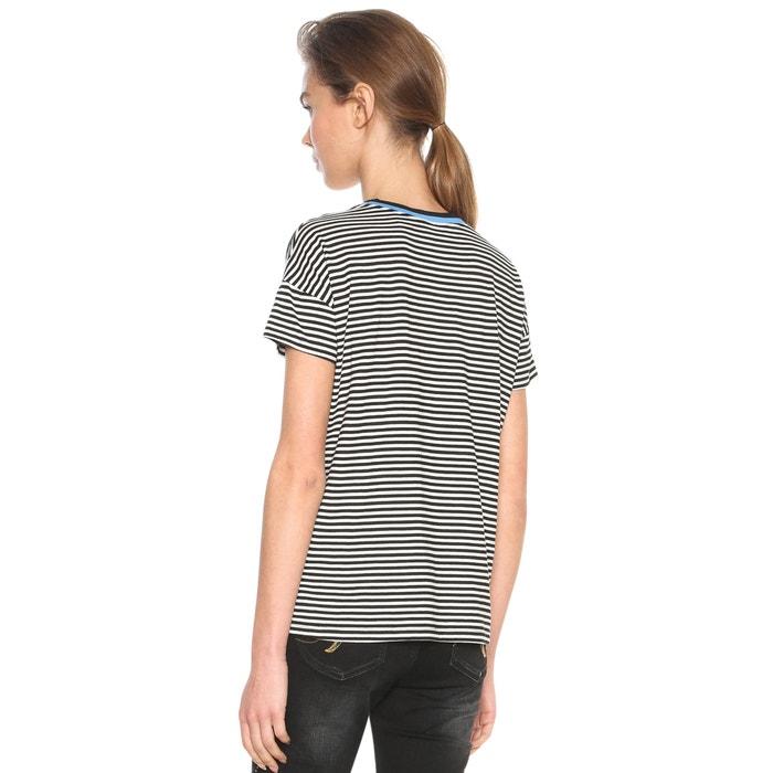 con cuello y manga corta Camiseta redondo DESIGUAL SC4qx