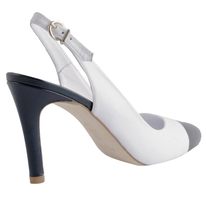 Chaussures à talons loren blanc Exclusif Paris