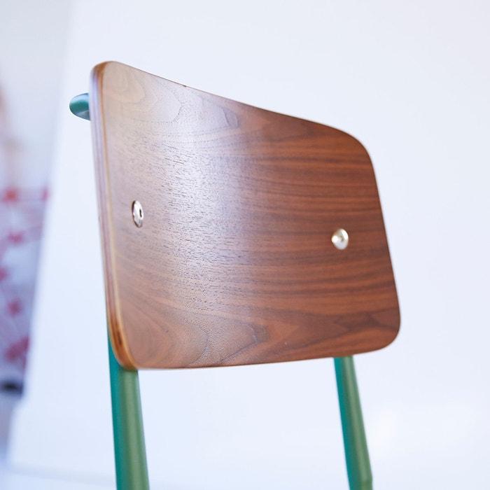 Chaise en métal et bois Mio